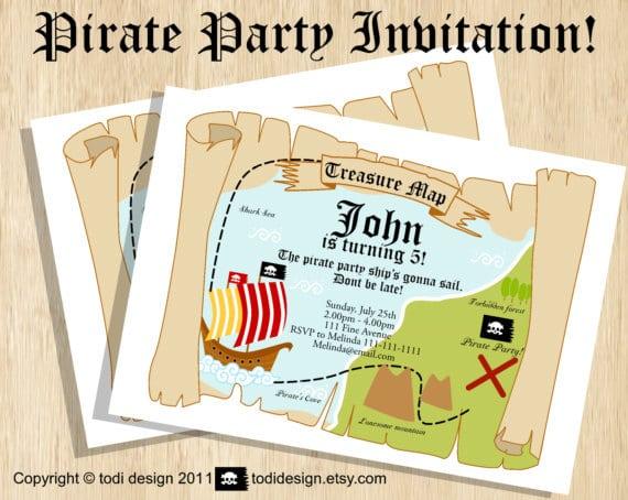 Free Printable Treasure Map Birthday Invitations