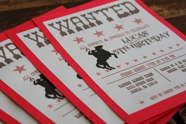 Free Printable Western Invitation Templates