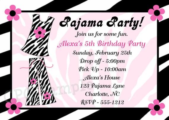 Free Printable Zebra Print Birthday Invitations For Tweens