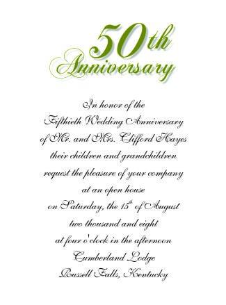 Free Printalble Templates For 50th Wwedding Anniversary Invitations