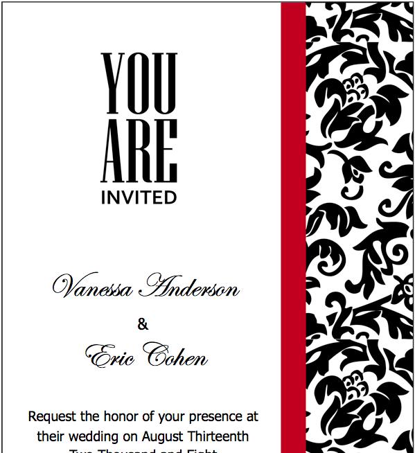 Free Red Wedding Invitation Templates