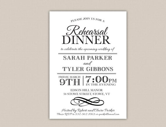 Free Printable Rehearsal Dinner Invitations