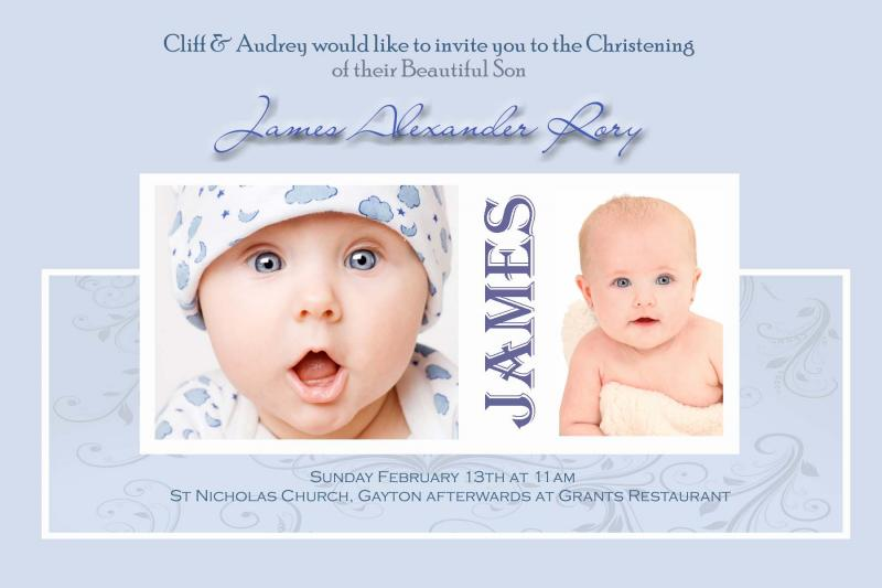Free Sample Baptismal Invitation Card