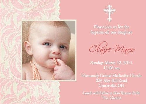 Free Sample Christening Invitation Templates