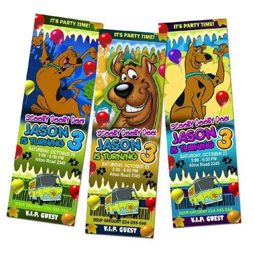 Free Scooby Doo Birthday Invitations Printable