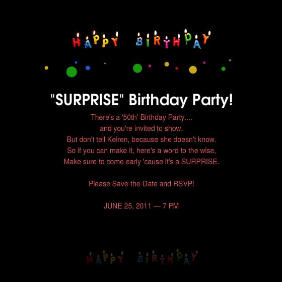 ... related to Free Surprise 50th Birthday Party Invitations Templates