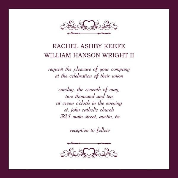 Free Template Wedding Invitation Card