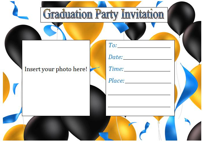 Free Templates For Graduation Party Invitations
