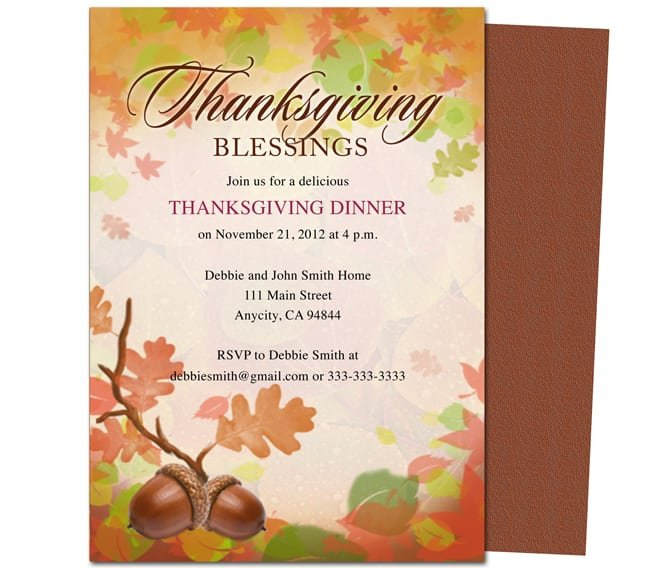 Free Thanksgiving Invitations Email