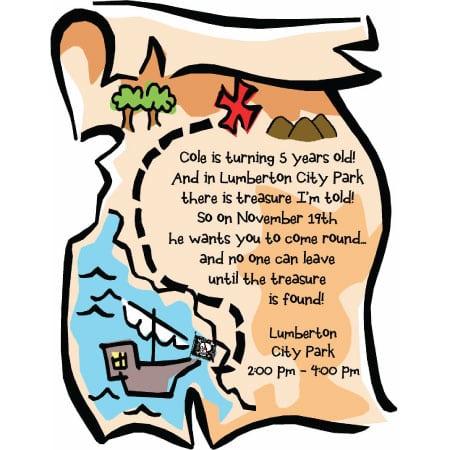 Free Treasure Map Invitation Template