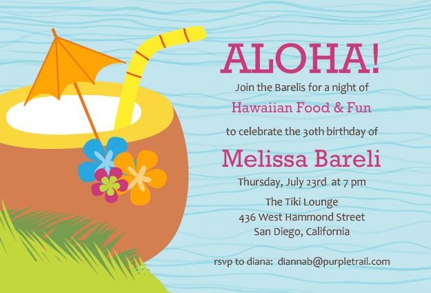 Free Tropical Invitations Printable