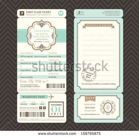 Free Vintage Style Wedding Invitation Templates