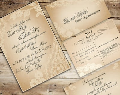 Free Wedding Invitations Vintage