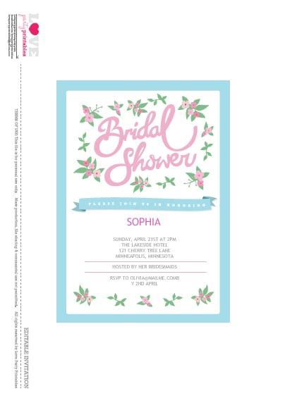 Free Wedding Shower Invitation Printables