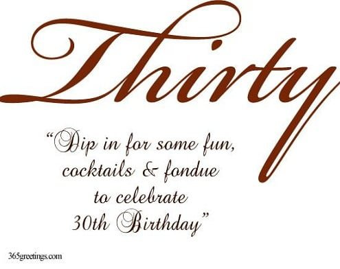 Funny 30th Birthday Wording For Invitations