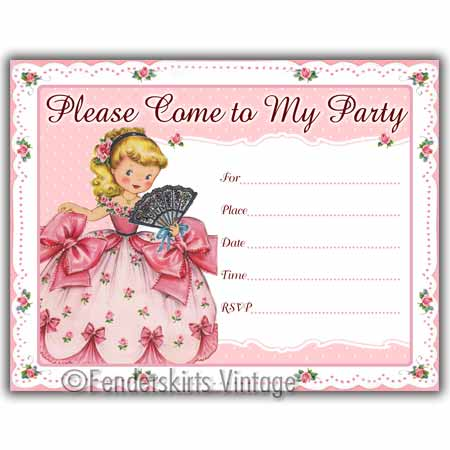 Girl Birthday Party Invitations