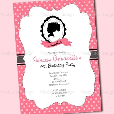 Girls Birthday Invitation Template