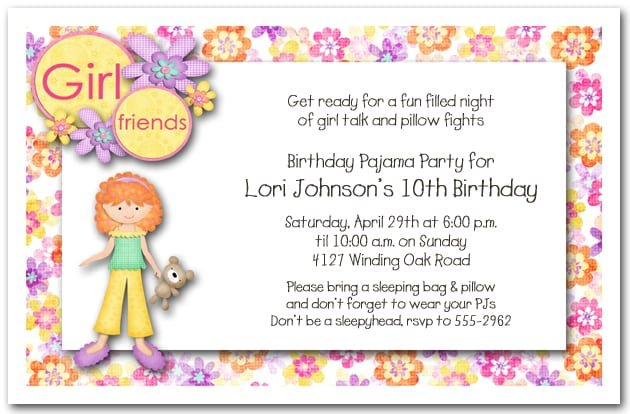 Good Birthday Invitation Ideas For Sleepovers