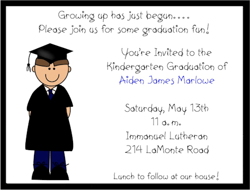 Graduation Invitation Wording Kindergarten