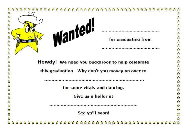 Graduation Invitations Free