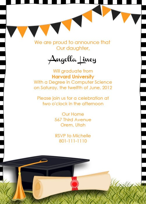 Free Printable Graduation Invitation Templates is one of our best ideas you might choose for invitation design