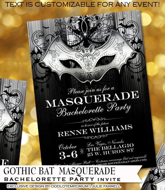Halloween Bachelorette Party Invites