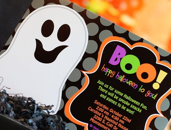 Halloween Birthday Invitations With Pictures
