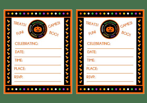 Halloween Birthday Party Invitations Free Printable