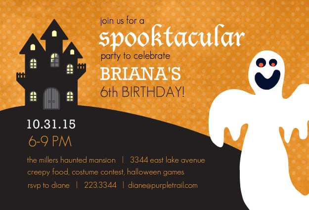 Halloween Birthday Party Invitations Printable Free