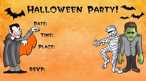 Halloween Invites Free Printable