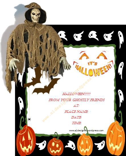 Halloween Invites Template