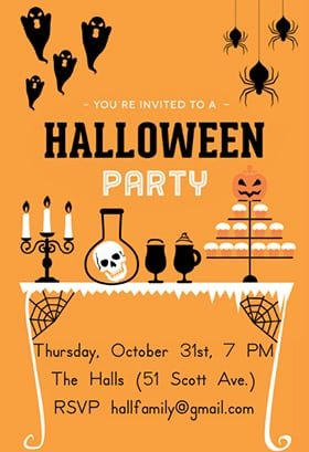 Halloween Scary Invitations Free Printibls