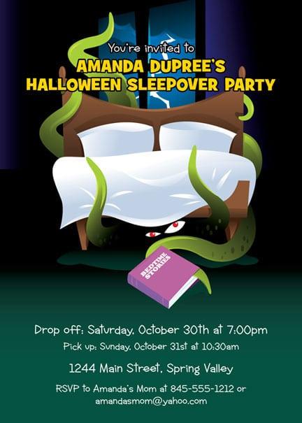 Halloween Sleepover Invitations Pics