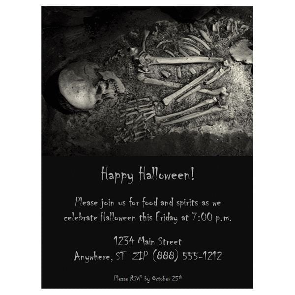 Halloween Wedding Invitation Templates Free