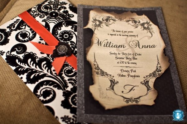 Halloween Wedding Invitations Uk