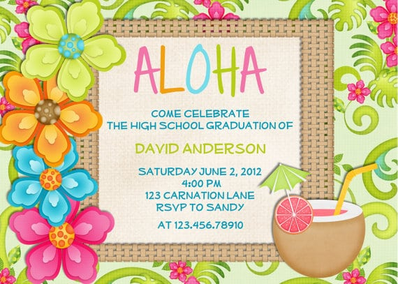 Hawaiian Party Invitations Free Printable