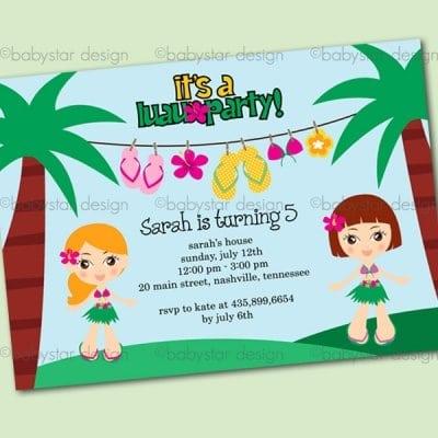 Hawaiian Party Invitations Free Templates