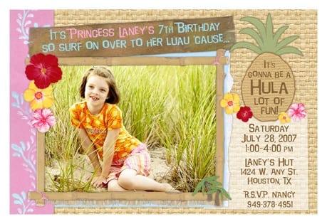 Hawaiian Princess Invitations