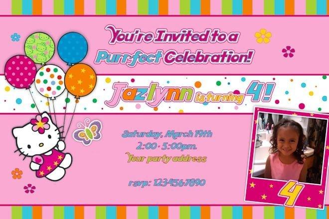 Hello Kitty Free Invitations Templates