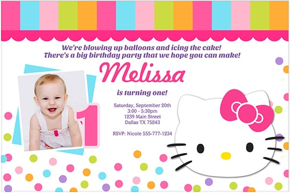 Personalised 7th Photo Birthday Invitations from