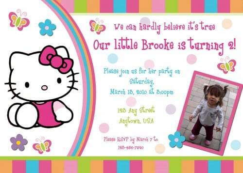 Hello Kitty Invitationn