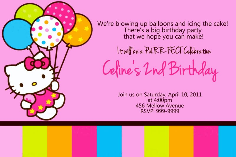 Hello Kitty Invitations Free