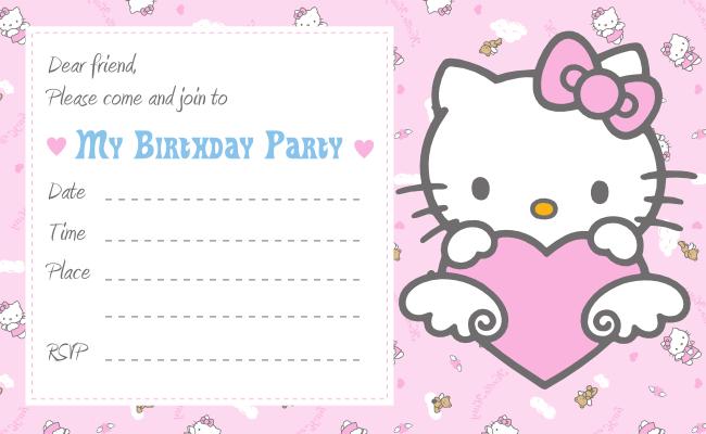 Hello Kitty Party Invitations Printable