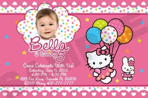 Hello Kitty Sample Birthday Invitation