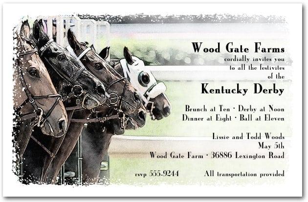 Horse Racing Invitation Templates