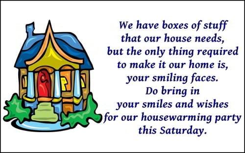 Housewarming Invitation Mail Format