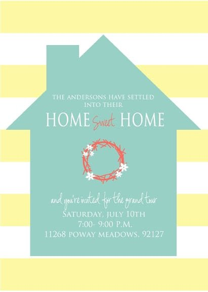 Housewarming Invitations Free Templates
