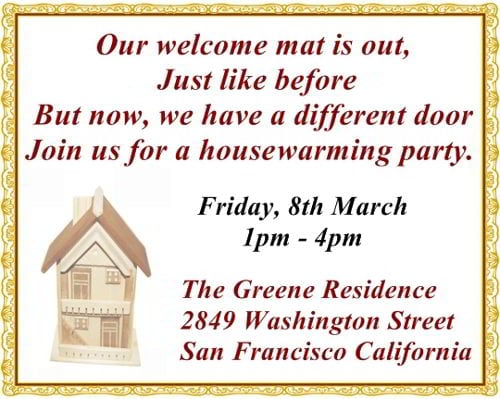 Housewarming Invites Wording