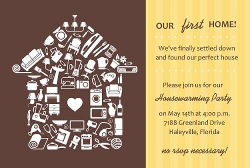 Housewarming party invitation sample stopboris Gallery