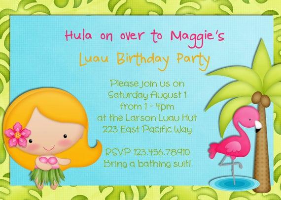 Hula Girl Invitations Printable Free